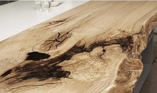 mesa de porcelanato líquido rustica