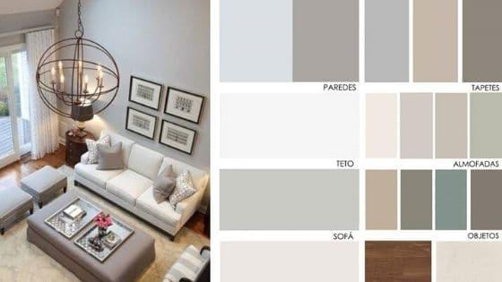 decoração contemporânea paleta de cores