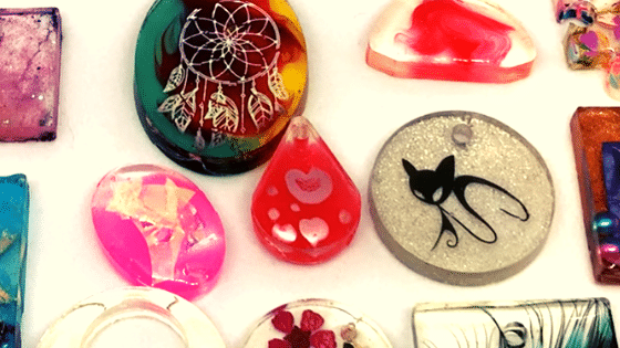 jóias de resina passo a passo