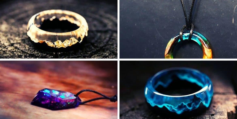 jóias de resina