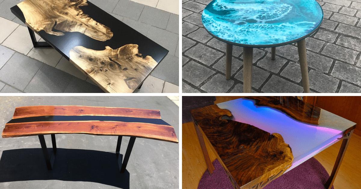 Mesas de porcelanato líquido exemplos